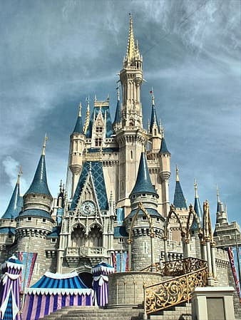 Architectural photography of Disney Castle under clear sky during daytime