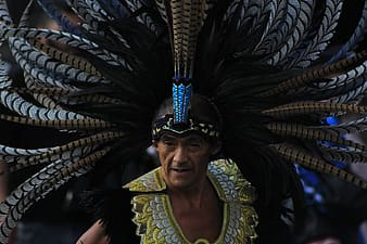 Man in traditional headdress