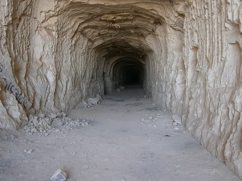 Brown mountain tunnel