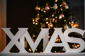 White XMAS freestanding letters