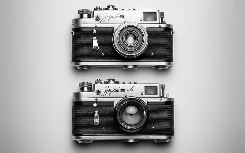 Two grey MILC cameras