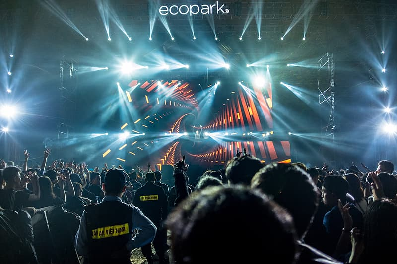 People gathered on Ecopark