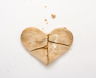 Brown heart with white background