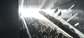 People climbing stairs