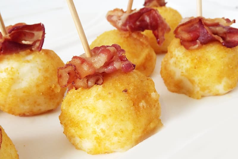 Fried dish with bacon