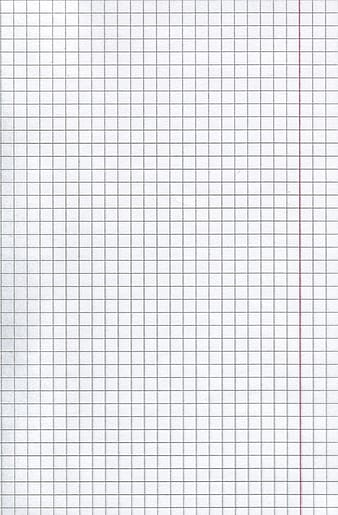 White graphing paper