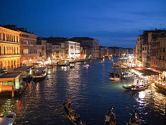 Photo of Grand Canal during night time