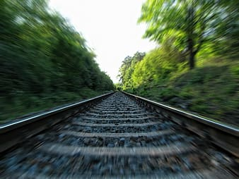 Selective focus photographed of railway