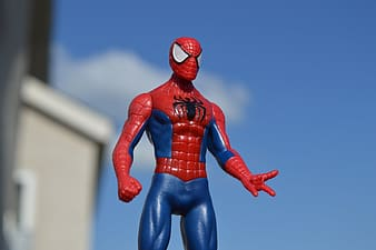 Selective focus photography of Spider-Man action figure
