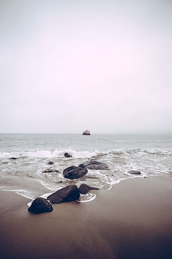 Photo of rocks near beach