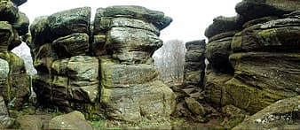 Grey rock formations during daytime