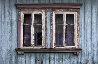 Close up photography of brown and white wooden window