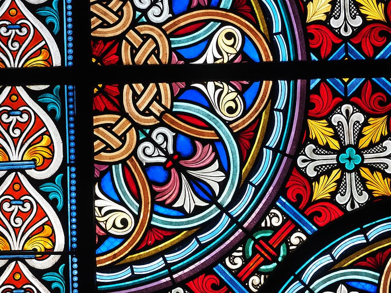 Multicolored stained glass decor