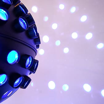 Lighted white and blue disco light