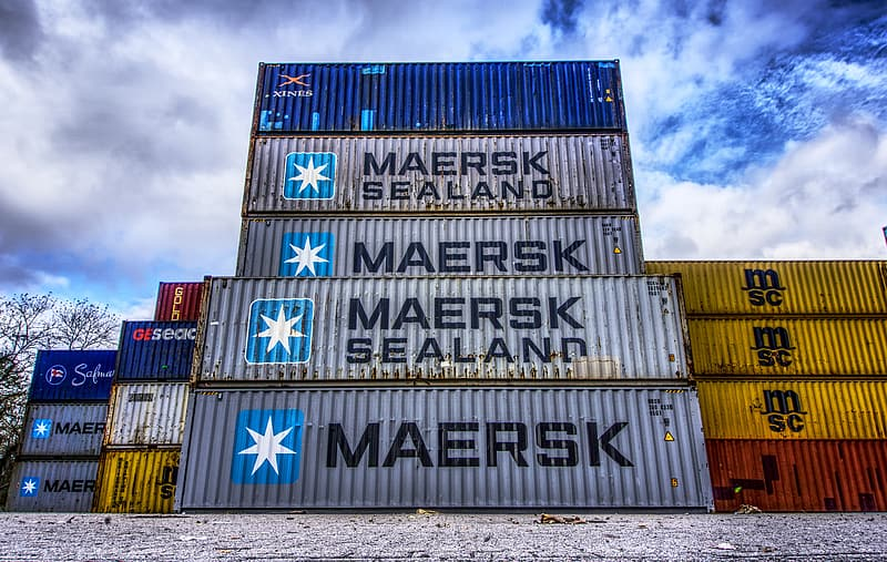 Container, port, loading, stacked, container terminal, container handling, cargo, marketing hub, germany, color