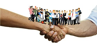 People doing hand sign illustration