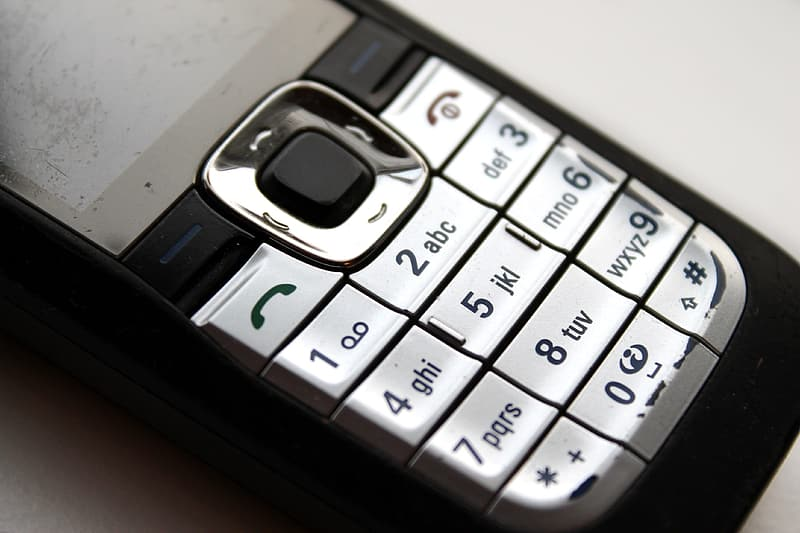 Black and silver candybar phone