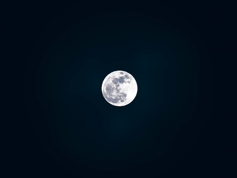 Full moon digital wallpaper