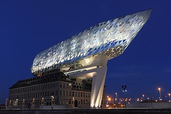 Landscape photo of building during night time