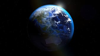 Blue and white planet earth