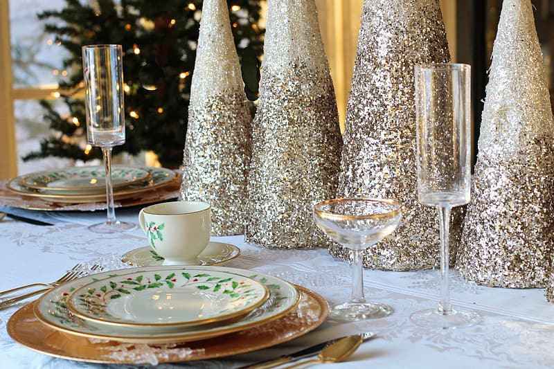 Fine dining table setting