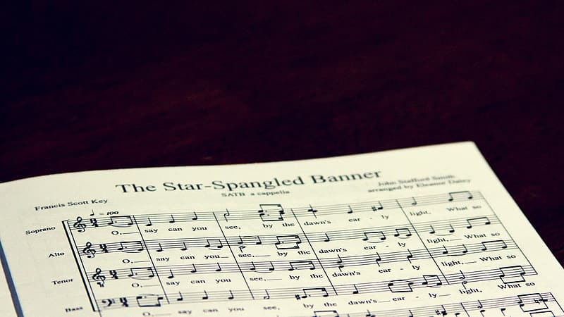 Star Spangled Banner Sheet Music Pikrepo