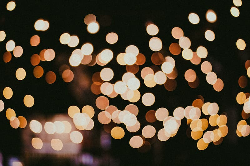 Bokeh lights captured in the city