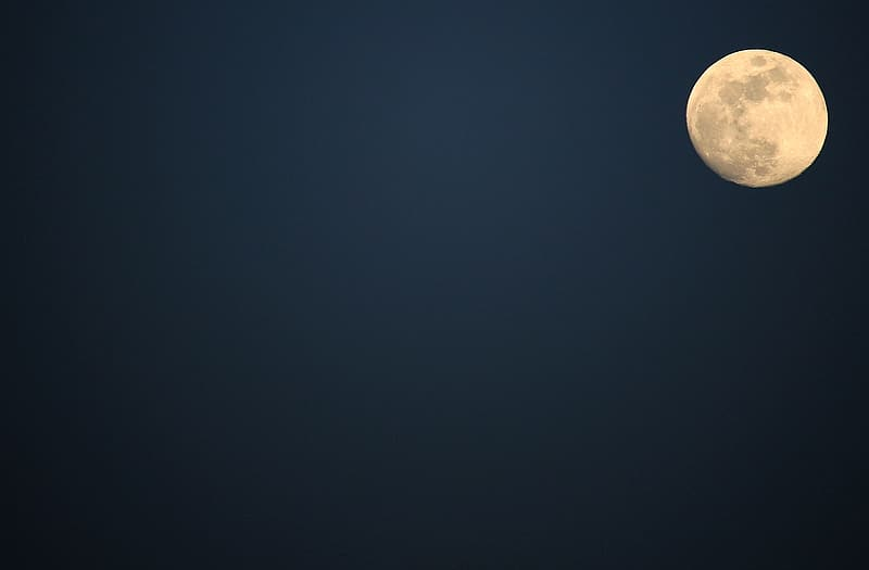 Full moon with starless sky painting