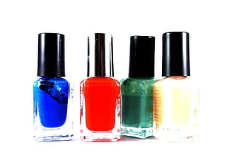 Four assorted-color nail laquer