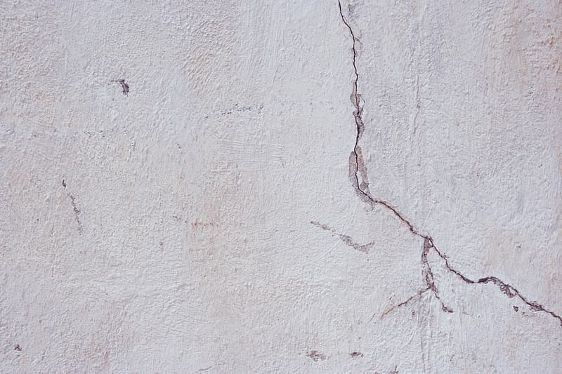Cracked gray concrete surface