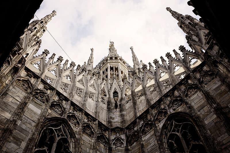 Gray concrete cathedral
