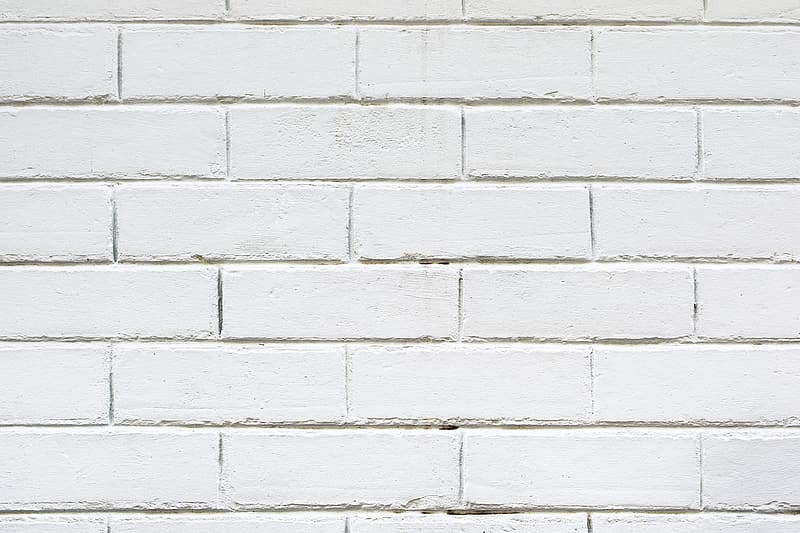 White painted bricked wall