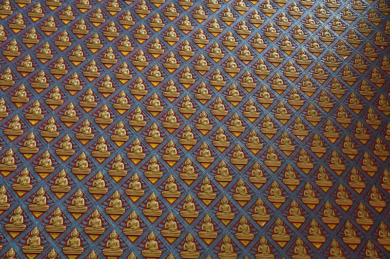 Blue and yellow square pattern