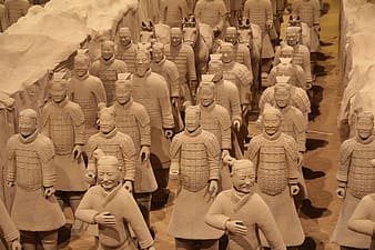 Top view of Terracota Soldiers, China
