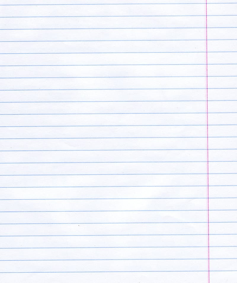 White lined paper