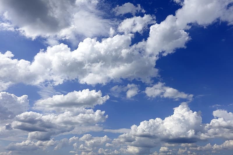 Low angle photo of white clouds