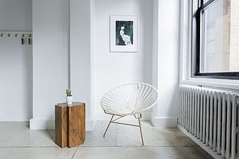 White wooden chair