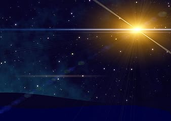 Sun with stars wallpaper