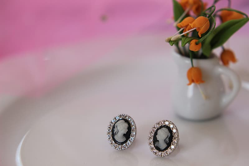 Silver and diamond studded rings