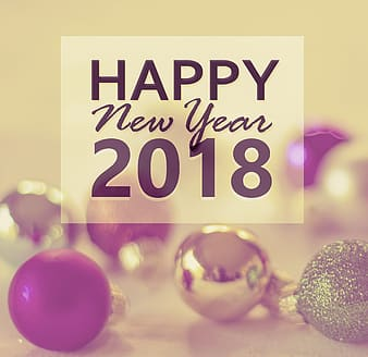 Happy New Year 2018 text
