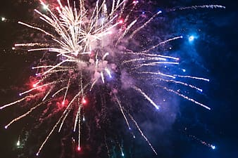 Low angle view photography of fireworks display