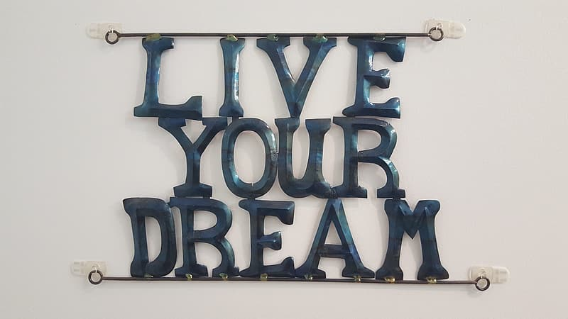 Blue and white love letter wall decor