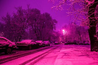 Edited photo of cars covered with snow