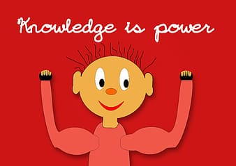 Knowledge is power sign