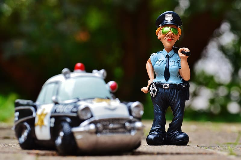 Police man action figure