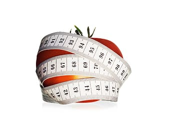 Red and white tape measure