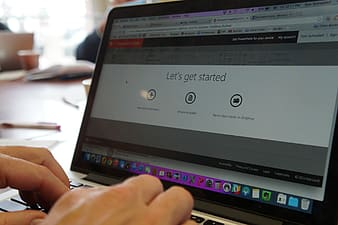 Person using MacBook pro