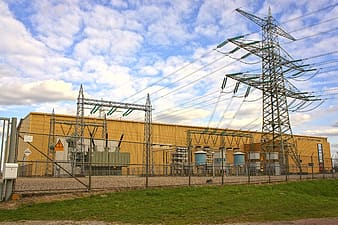 Photograph of electric power station