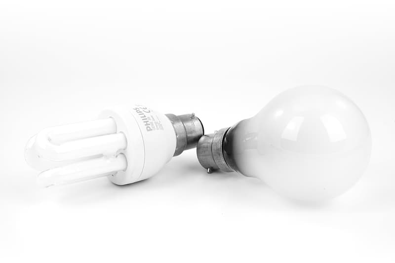 CFL and incandescent bulb