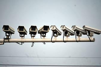 White security camera